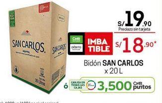 Oferta de Agua San Carlos por S/ 18,9