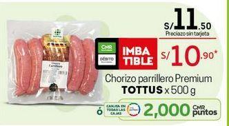 Oferta de Chorizo parrillero Tottus por S/ 10,9