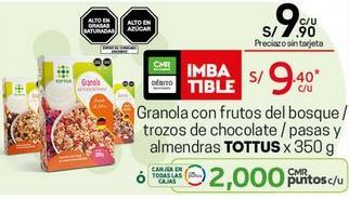 Oferta de Granola Tottus por S/ 9,4