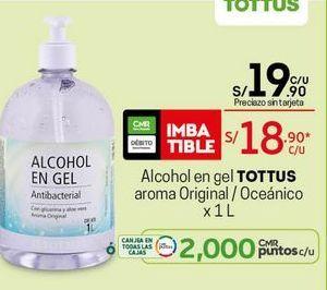 Oferta de Alcohol en gel Tottus por S/ 18,9