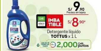 Oferta de Detergente líquido Tottus por S/ 8,9