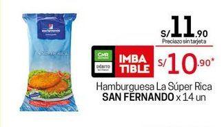 Oferta de Hamburguesas San Fernando por S/ 10,9