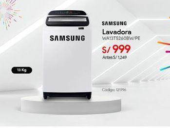 Oferta de Lavadoras Samsung por S/ 999