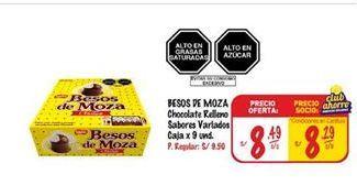 Oferta de Chocolate Besos de Moza por S/ 8,49