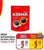 Oferta de Café instantáneo Kirma por S/ 3,99