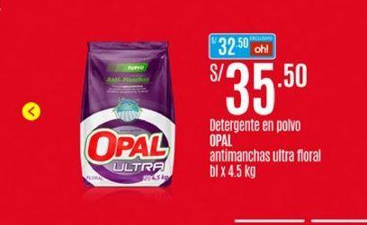 Oferta de Detergente en polvo Opal por S/ 35,5