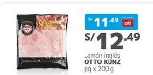 Oferta de Jamón Otto Kunz por S/ 12,49