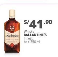 Oferta de Whisky Ballantine's por S/ 41,9
