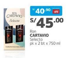Oferta de Ron Cartavio por S/ 45