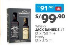 Oferta de Whisky Jack Daniel's por S/ 99,9