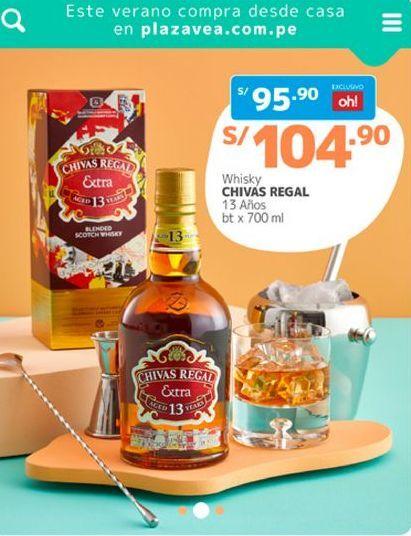 Oferta de Whisky Chivas Regal por S/ 104,9