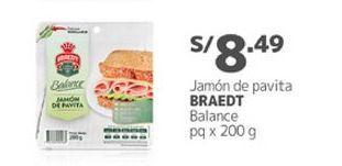 Oferta de Jamón Braedt por S/ 8,49
