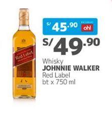Oferta de Whisky Johnnie Walker por S/ 49,9
