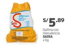 Oferta de Gallina Sadia por S/ 5,89