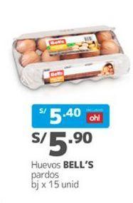 Oferta de Huevos Bell's por S/ 5,9