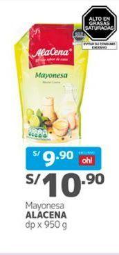 Oferta de Mayonesa Alacena por S/ 10,9