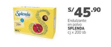 Oferta de Endulzante Splenda por S/ 45,9